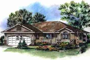 Dream House Plan - Traditional Exterior - Front Elevation Plan #18-1002