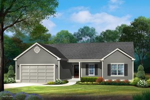 Ranch Exterior - Front Elevation Plan #22-630