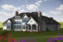 Dream House Plan - European Exterior - Rear Elevation Plan #70-1129