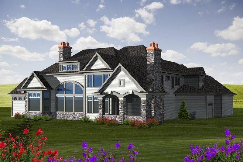 European Exterior - Rear Elevation Plan #70-1129 - Houseplans.com