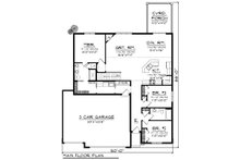 Ranch Floor Plan - Main Floor Plan Plan #70-1162
