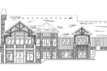 Craftsman Exterior - Rear Elevation Plan #5-259