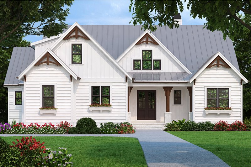 Country Style House Plan - 3 Beds 2.5 Baths 2205 Sq/Ft Plan #927-980