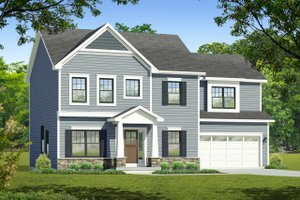 Home Plan Design - Colonial Exterior - Front Elevation Plan #1010-213