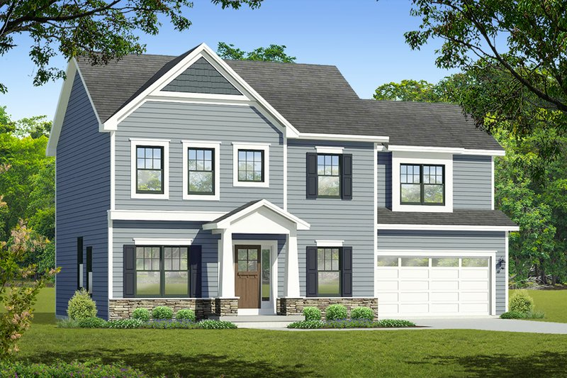 Architectural House Design - Colonial Exterior - Front Elevation Plan #1010-213