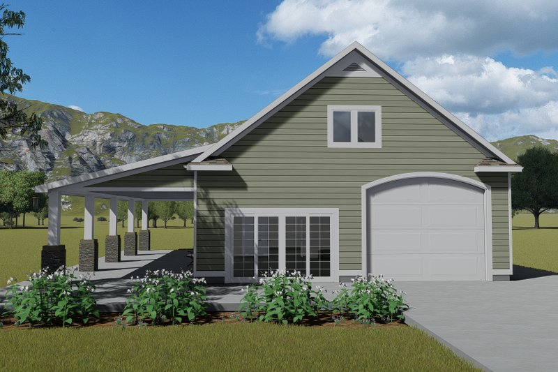 Dream House Plan - Traditional Exterior - Front Elevation Plan #1060-81