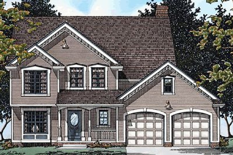 Farmhouse Exterior - Front Elevation Plan #20-915