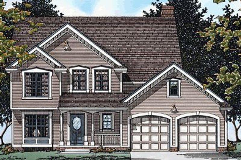 Farmhouse Exterior - Front Elevation Plan #20-915 - Houseplans.com