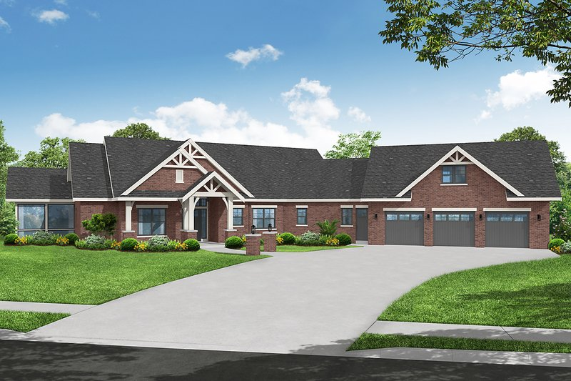 House Blueprint - Craftsman Exterior - Front Elevation Plan #124-1272