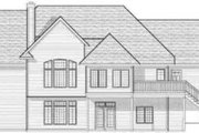 Traditional Style House Plan - 4 Beds 3.5 Baths 3899 Sq/Ft Plan #70-583 Exterior - Rear Elevation