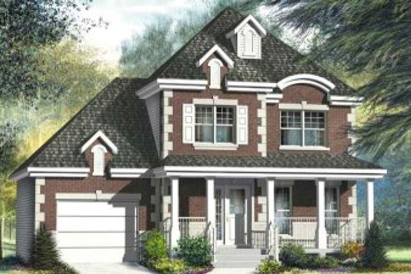 European Style House Plan - 3 Beds 1.5 Baths 1392 Sq/Ft Plan #25-4185 Exterior - Front Elevation
