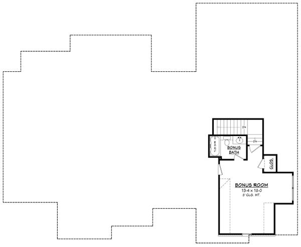 Ranch Style House Plan - 4 Beds 2.5 Baths 2404 Sq/Ft Plan #430-169 Floor Plan - Upper Floor Plan