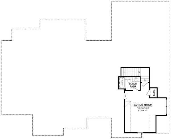 Architectural House Design - Ranch Floor Plan - Upper Floor Plan #430-169