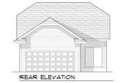 Bungalow Style House Plan - 2 Beds 2 Baths 1250 Sq/Ft Plan #70-963 Exterior - Rear Elevation
