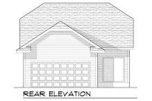 Dream House Plan - Bungalow Exterior - Rear Elevation Plan #70-963