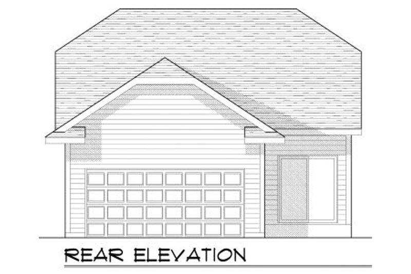 Bungalow Exterior - Rear Elevation Plan #70-963 - Houseplans.com
