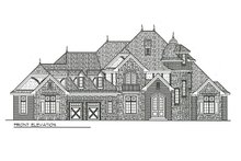 Dream House Plan - Front View- 7000 square foot European home