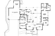 Craftsman Style House Plan - 3 Beds 2.5 Baths 2594 Sq/Ft Plan #895-36 Floor Plan - Main Floor