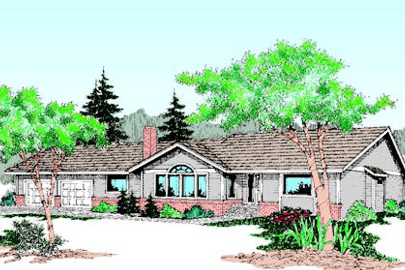 Traditional Exterior - Front Elevation Plan #60-201 - Houseplans.com