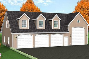 Country Exterior - Front Elevation Plan #75-205