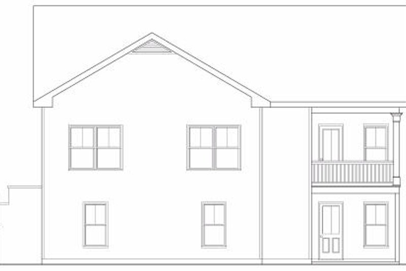 Country Exterior - Rear Elevation Plan #419-155 - Houseplans.com
