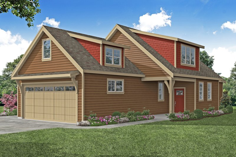 Architectural House Design - Craftsman Exterior - Front Elevation Plan #124-1213
