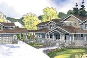 Craftsman Style House Plan - 4 Beds 4.5 Baths 5222 Sq/Ft Plan #124-674 Exterior - Front Elevation