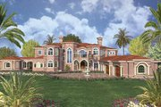 Mediterranean Style House Plan - 7 Beds 9.5 Baths 11027 Sq/Ft Plan #420-200 Exterior - Other Elevation