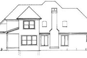 Traditional Style House Plan - 3 Beds 2.5 Baths 1856 Sq/Ft Plan #41-139 Exterior - Rear Elevation