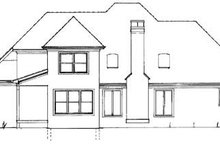 House Plan Design - Traditional Exterior - Rear Elevation Plan #41-139