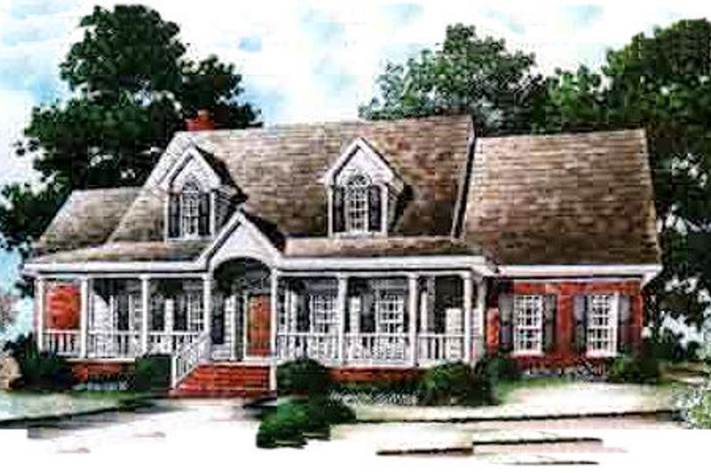 Country Exterior - Front Elevation Plan #37-210 - Houseplans.com