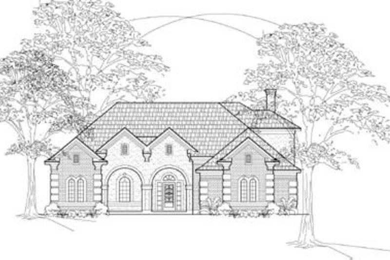 European Exterior - Front Elevation Plan #61-107 - Houseplans.com