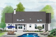 House Design - Farmhouse Exterior - Rear Elevation Plan #929-1119