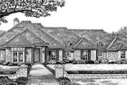 European Style House Plan - 3 Beds 2.5 Baths 2336 Sq/Ft Plan #310-249 Exterior - Front Elevation