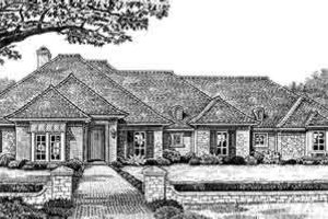 European Exterior - Front Elevation Plan #310-249