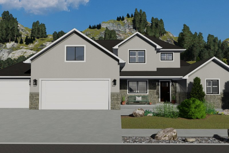 Architectural House Design - Traditional Exterior - Front Elevation Plan #1060-25