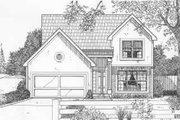 European Style House Plan - 3 Beds 2.5 Baths 1310 Sq/Ft Plan #6-195