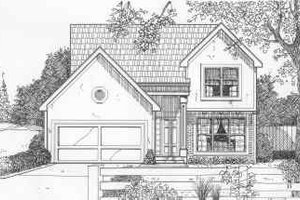 European Exterior - Front Elevation Plan #6-195