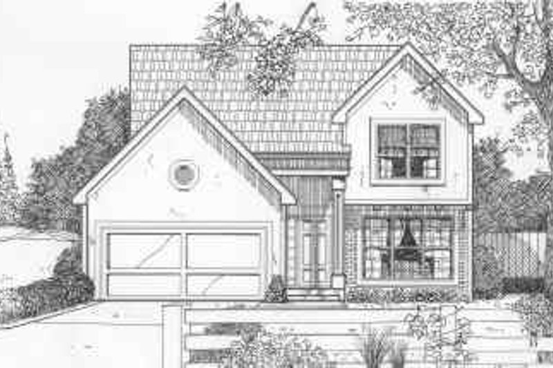 European Style House Plan - 3 Beds 2.5 Baths 1310 Sq/Ft Plan #6-195
