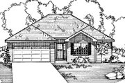 Ranch Style House Plan - 4 Beds 3 Baths 1718 Sq/Ft Plan #31-110 Exterior - Front Elevation