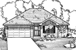 House Plan Design - Ranch Exterior - Front Elevation Plan #31-110