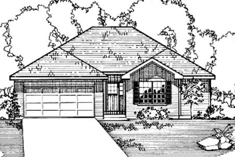 Ranch Style House Plan - 4 Beds 3 Baths 1718 Sq/Ft Plan #31-110