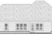 European Style House Plan - 3 Beds 2 Baths 1250 Sq/Ft Plan #21-171 Exterior - Rear Elevation