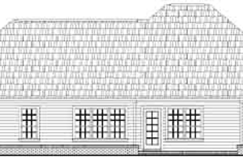 European Exterior - Rear Elevation Plan #21-171 - Houseplans.com