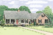 Country Style House Plan - 3 Beds 2.5 Baths 2034 Sq/Ft Plan #406-139 Exterior - Front Elevation
