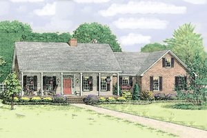 Country Exterior - Front Elevation Plan #406-139