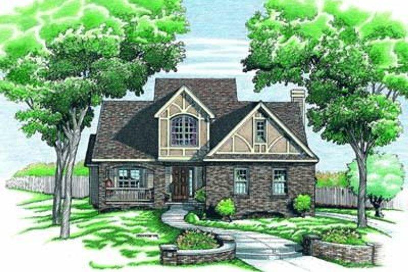 Dream House Plan - Tudor Exterior - Front Elevation Plan #20-463