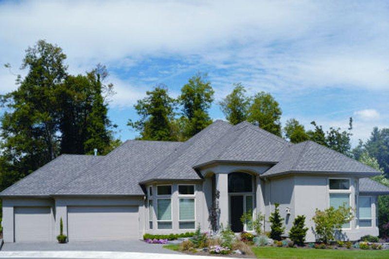 Dream House Plan - Mediterranean Exterior - Front Elevation Plan #48-295