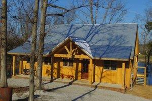 Cabin Exterior - Front Elevation Plan #932-123