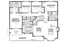 Traditional Floor Plan - Main Floor Plan Plan #18-1018